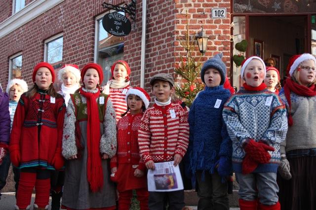 Julemarked i Øvrebyen. Foto: Kristin Skaare.